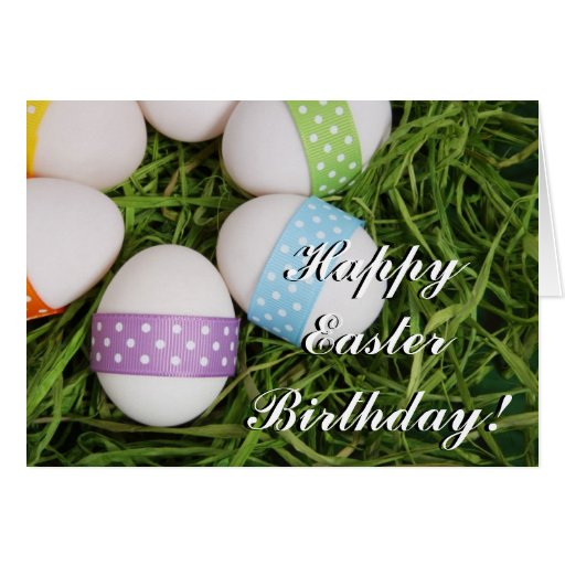 Happy Easter Birthday Eggs greeting card