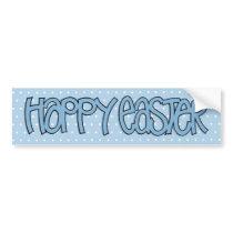 Happy Easter blue Bumper Sticker