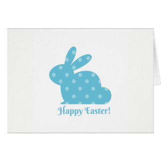 """""""Happy Easter!"""" Blue Bunny Card"""