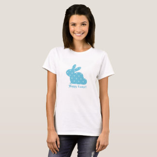 """""""Happy Easter!"""" Blue Bunny T-Shirt"""