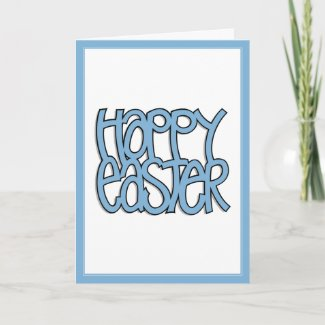 Happy Easter blue Card card