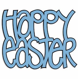 Happy Easter blue Sculpture