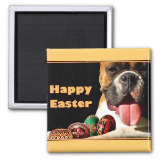 Happy Easter Boxer Dog magnet