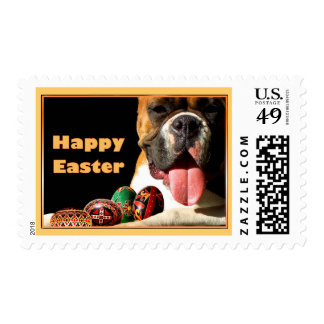 Happy Easter Boxer Dog Stamp