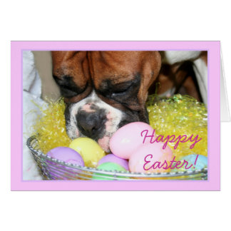 Happy Easter Boxer greeting card