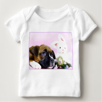 Happy Easter boxer puppy Baby T-Shirt