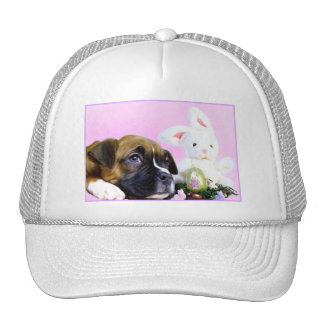 Happy Easter boxer puppy hat