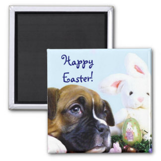 Happy Easter Boxer puppy magnet