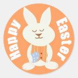 Happy Easter Boy Bunny Stickers