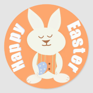Happy Easter Boy Bunny Stickers