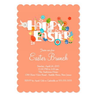 Happy Easter Brunch Dinner Party Invitation