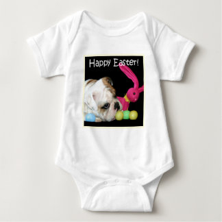 Happy Easter Bulldog baby shirt