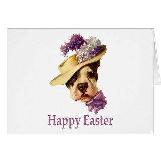 Happy Easter Bulldog Greeting Card