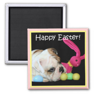 Happy Easter Bulldog Magnet