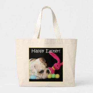 Happy Easter Bulldog tote bag