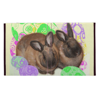 Happy Easter Bunnies and Easter Eggs iPad Folio Cases
