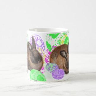 Happy Easter Bunnies and Easter Eggs Coffee Mug