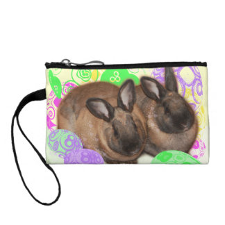 Happy Easter Bunnies and Easter Eggs Coin Purse