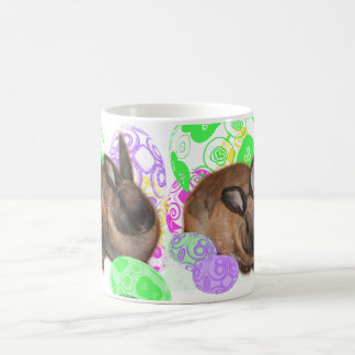 Happy Easter Bunnies and Easter Eggs Mugs