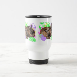 Happy Easter Bunnies and Easter Eggs Travel Mug