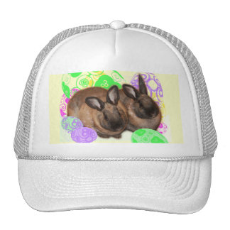 Happy Easter Bunnies and Easter Eggs Trucker Hat