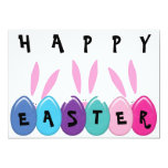 Happy Easter Bunnies And Eggs, Egg Hunt Invite