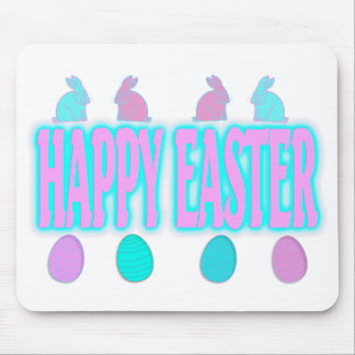 Happy Easter Bunnies and Eggs Mousepad