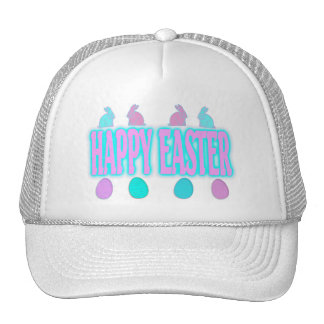 Happy Easter Bunnies and Eggs Trucker Hat