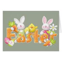 Happy Easter Bunnies Card