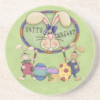 Happy Easter Bunnies Coasters