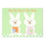 "Happy Easter Bunnies Luncheon Invitation 5"" X 7"" Invitation Card"