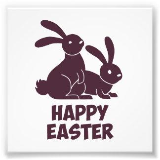 Happy Easter Bunnies Photo Print