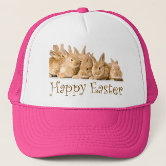 Happy Easter bunnies Trucker Hat