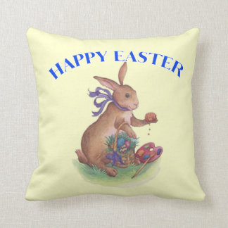 Happy easter bunny American MoJo Pillow