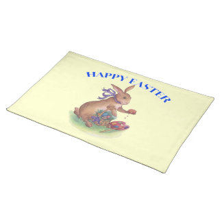 Happy easter bunny American  MoJo Placemat
