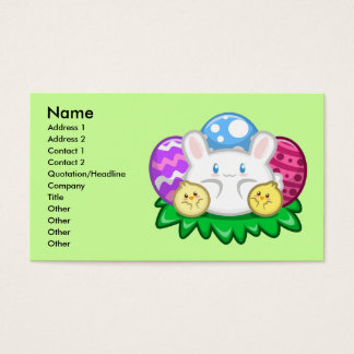 Happy Easter: Bunny and Chicks Profile Card