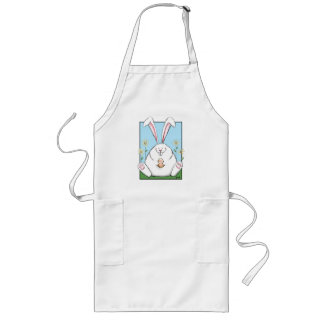 Happy Easter Bunny and Easter Egg Aprons