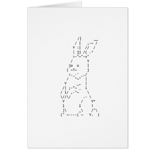 Happy Easter Bunny Art Card
