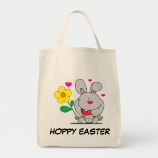 Happy Easter Bunny Grocery Tote Bag