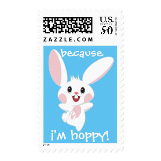 Happy Easter Bunny Because I'm Hoppy Postage