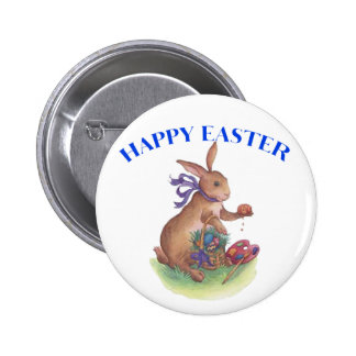 Happy easter bunny buttons