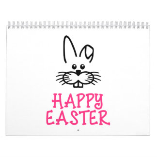 Happy easter bunny calendar
