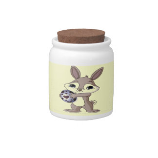 Happy Easter Bunny Candy Jar