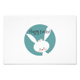 Happy Easter bunny cartoon Photo Print