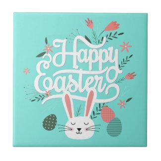 Happy Easter Bunny Ceramic Tile