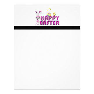 Happy Easter Bunny & Chick Letterhead