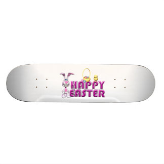 Happy Easter Bunny & Chick Skateboard