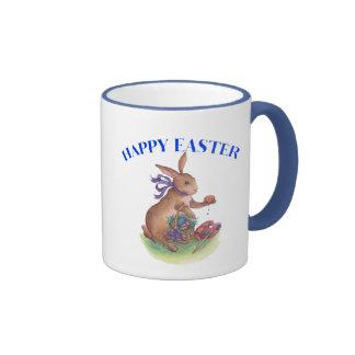 Happy easter bunny coffee mugs