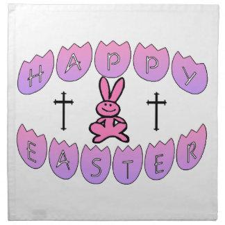 Happy Easter Bunny & Cross Napkin