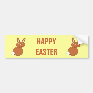 Happy Easter Bunny Custom Bumper Sticker